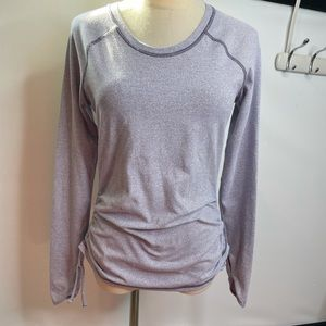 Lucy S top long sleeve active sports purple stripe